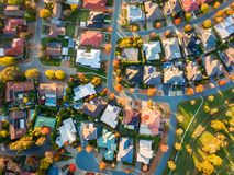 Typical suburb in Australia stock photo