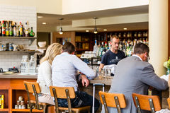 Typical Sunday at Mercantile restaurant Royalty Free Stock Photo