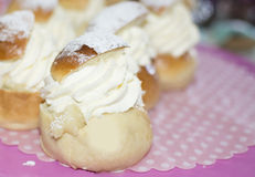 Typical Swedish buns in February - semla Stock Photo