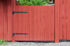 Typical Swedish fences color Stock Image