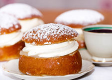 Typical swedish semla Royalty Free Stock Photos