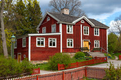 Typical swedish  wooden house, stockholm Stock Image