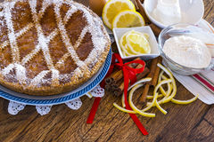 Typical Sweet Campania - Neapolitan Pastiera Stock Photography