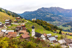 Typical Swiss Alpine village Stock Images