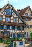 Typical Swiss Timbered Houses Stock Photography