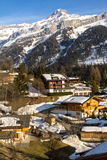 Typical swiss village Royalty Free Stock Images
