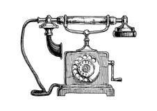 Typical telephone end of XVIII century stock illustration