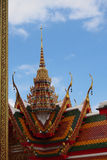 Typical Thai Temple Roof no.02. Typical Thai Temple Roof with ornamental details Stock Images