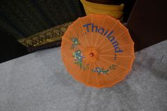 Typical Thai umbrellas Stock Image