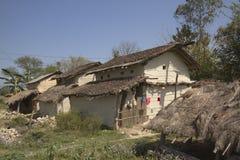 Typical tharu village, Bardia, Nepal Stock Photography