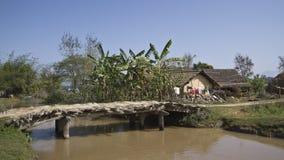 Typical tharu village, Bardia, Nepal Stock Images