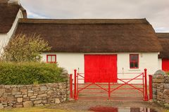 Thatched cottage. Fanad head. county Donegal. Ireland. Typical thatched cottage at Fanad head. county Donegal. Ireland Stock Photos