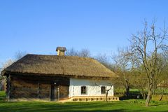 Typical thatched roof house Royalty Free Stock Photography