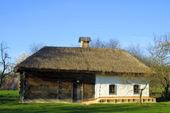 Typical thatched roof house Royalty Free Stock Photo