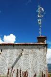 Typical tibetan buildings in Lhasa,Tibet Royalty Free Stock Photos