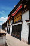 Typical tibetan buildings in Lhasa,Tibet Royalty Free Stock Images