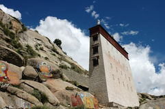 Typical tibetan buildings in Lhasa,Tibet Stock Photo