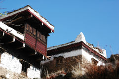 Typical tibetan buildings in Sichuan,China Stock Photography