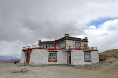Typical Tibetan house Stock Photo