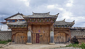 Typical Tibetan Style House Royalty Free Stock Photos