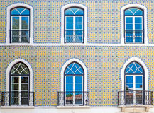 Typical tiled facade in Lisbon Royalty Free Stock Photos