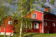 Typical Timbered House, Lapland, Finland Stock Image