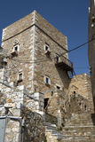 Typical Tower house in Mani Peninsula Stock Photography