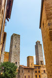 Typical tower houses of San Gimignano, Italy Stock Photography