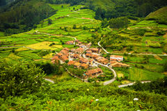 Typical town in Saja Valley Royalty Free Stock Image