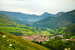 Typical town in Saja Valley Stock Images