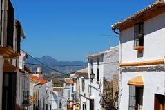 Village street, Olvera, Andalusia. Stock Photo
