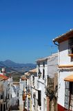 Village street, Olvera, Andalusia. Royalty Free Stock Image