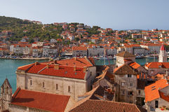 Typical towns in Croatia. Old towns at the Adriatic sea in Croatia royalty free stock image