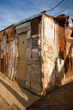 Typical township shack. A typical shack in a township in South Africa stock image