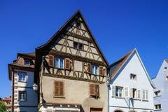 Typical traditional alsacien city house Stock Photos