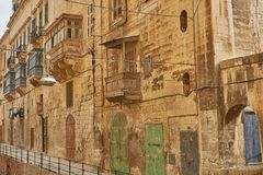 Typical and traditional architecture and houses in Valletta in M. Alta Royalty Free Stock Photography