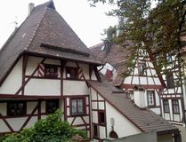 Typical traditional Bavarian architecture stock photos