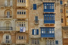 Typical and traditional colorful architecture and houses in Vall. Etta in Malta Royalty Free Stock Photography