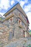 Typical traditional dark brick Andorra rural houses Royalty Free Stock Photos