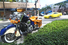 Typical traffic in Worth Avenue, Palm Beach Stock Photography