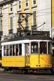 Typical Tram in Lisbon. A Typical Tram in old street, Lisbon, Portugal royalty free stock images
