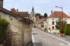 Typical village street in France Stock Photography