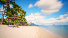 Typical tropical beach  Mauritius Royalty Free Stock Photography
