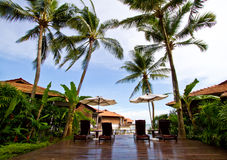 Typical tropical resort. Tropical resort situated in Malayisa royalty free stock image