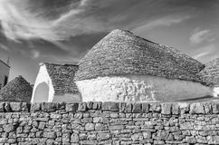 Typical trulli buildings in Alberobello, Apulia, Italy Royalty Free Stock Photo
