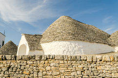 Typical trulli buildings in Alberobello, Apulia, Italy Royalty Free Stock Images