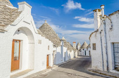 Typical trulli buildings in Alberobello, Apulia, Italy Stock Photo