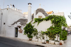 Typical trulli buildings in Alberobello, Apulia, Italy Royalty Free Stock Photography