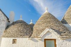 Typical trulli buildings in Alberobello, Apulia, Italy Royalty Free Stock Photos