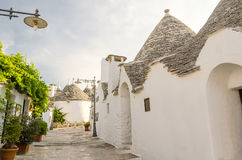 Typical trulli buildings in Alberobello, Apulia, Italy Royalty Free Stock Image